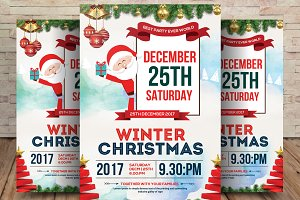 Winter Christmas Celebration Flyer