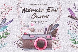 Watercolor Floral Cameras
