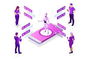 Isometric AI chatbot