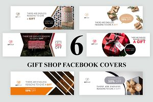 6 Gift Shop Facebook Covers