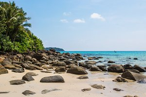 Tropical beach in Holiday