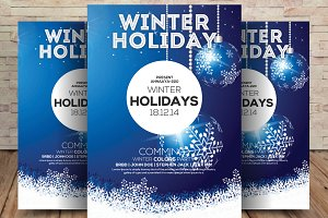 Winter Holidays Flyer Template