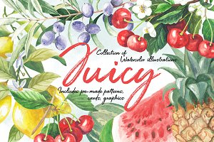 Juicy Watercolor Collection
