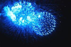Amazing fireworks turquoise flowers