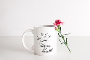 White Coffee mug mockup cup mock up