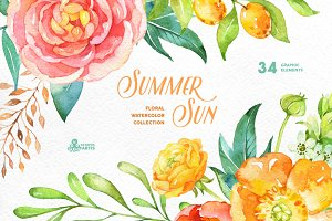 Summer Sun. Floral Collection
