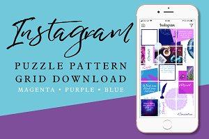 Instagram Puzzle Pattern Grid