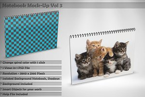 Notebook Mock-Up Vol 3