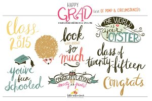 Happy Grad Hand Lettered Art
