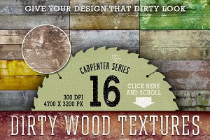 Dirty Wood Texture Set - 16 HRs