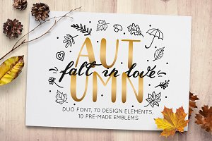 Autumn - fall in love font duo