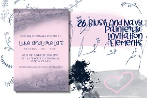 26 Blush and Navy Invitation Element