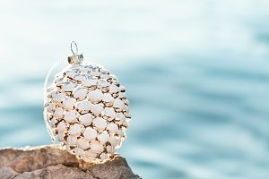 White Pine Cone For Christmas Decor
