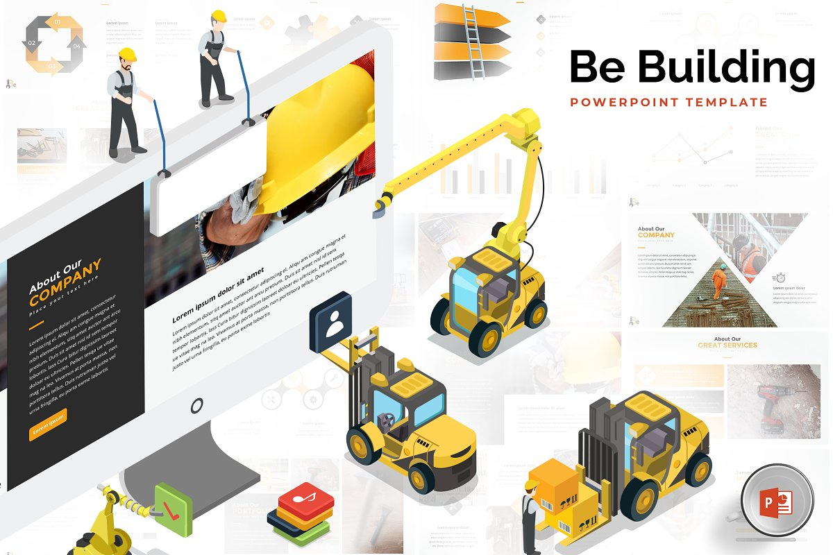 Building Construction Powerpoint Powerpoint Templates