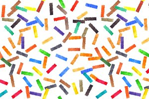 Watercolor colorful confetti pattern
