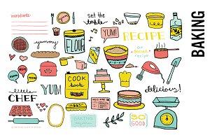 Baking Doodle Clipart Set