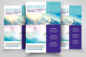 Nature Flyer Print Template 08