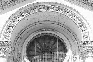 Rose Window Detail in Black White