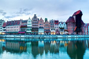 Panorama of Gdansk, Poland