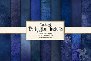 Distressed Dark Blue Textures