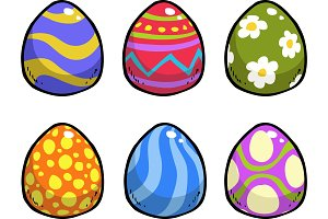Doodle easter eggs