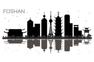 Foshan China City skyline