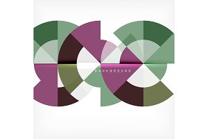 Modern circle abstract background