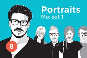 Portrait Illustrations – Mix Set 1