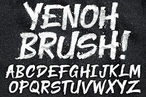 YENOH BRUSH FONT