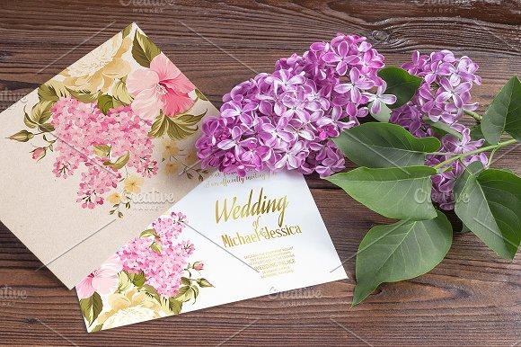 Flower card for wedding