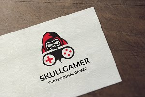 Skull Gamer Logo