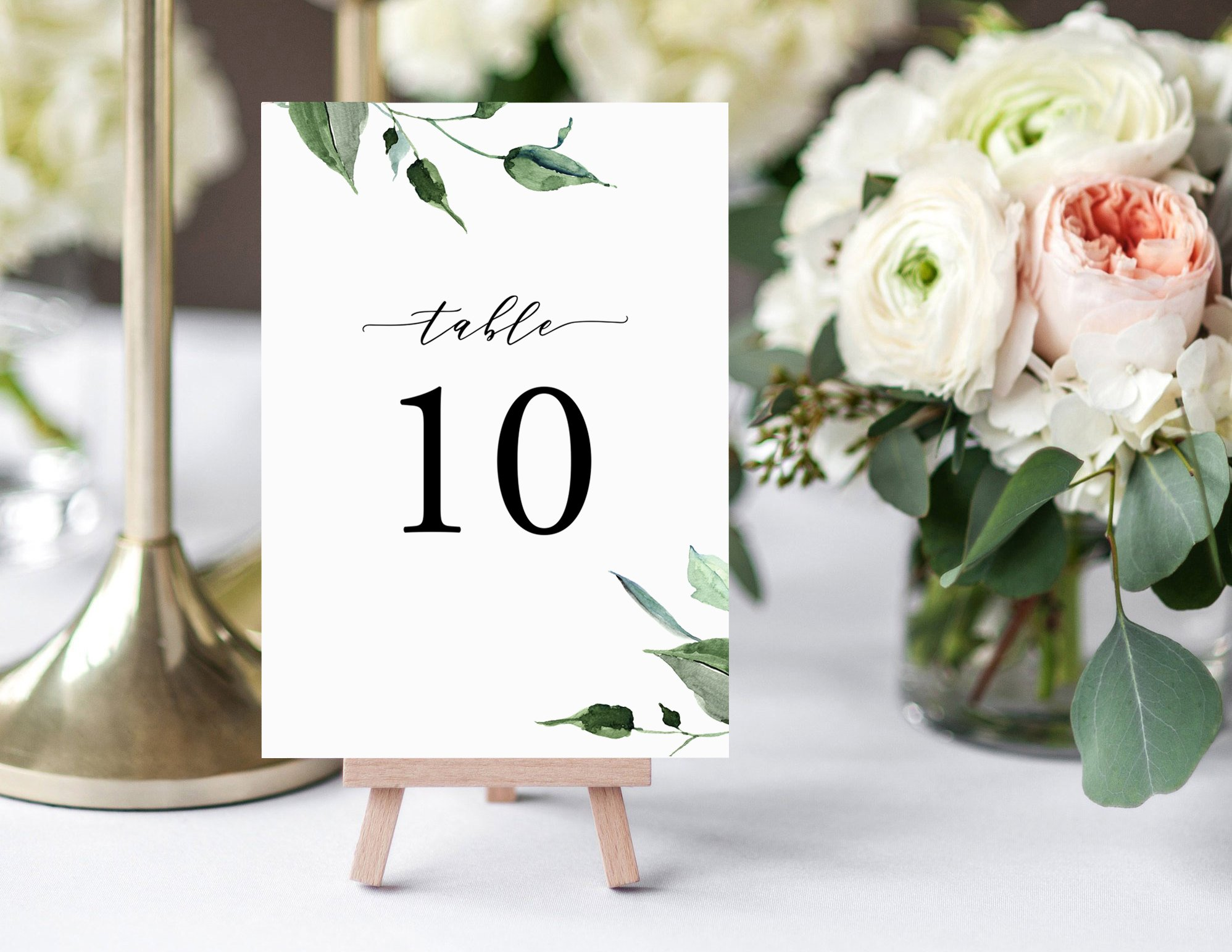 Wedding Table Number Template Creative Templates Creative Market