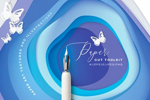 Vibrant Paper Cut Art Toolkit