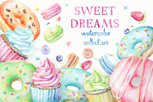 Sweet Dreams. Watercolor Collection