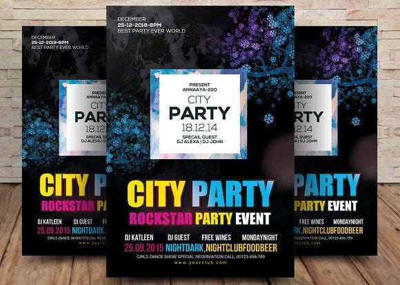 Rock City Party Flyer