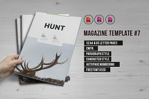 Indesign Magazine Template #7