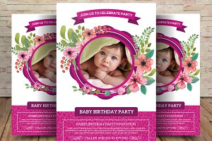 Baby Birthday Party Invitation