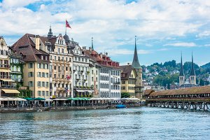 View of historic Luzern city center