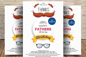 Happy Fathers Day Flyer Template