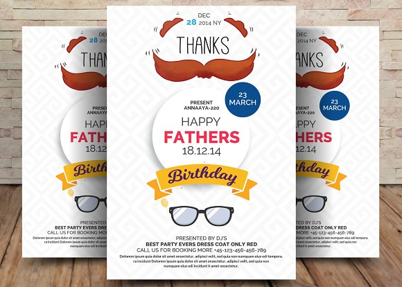 Happy Fathers Day Flyer Template in Flyer Templates