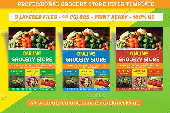 online grocery store flyer template flyer templates creative daddy