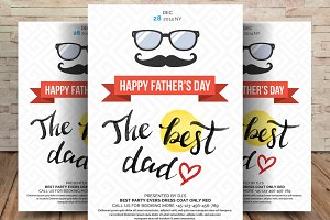 Fathers Day Best Dad Flyer And Poste