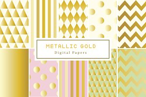 Metallic Gold Backgrounds