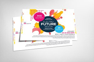Futurestic A4 Flyer Design