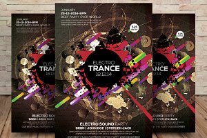 Electro Trance Music Flyer