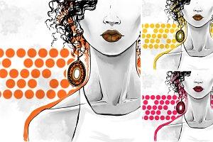 Poster art for beauty shops