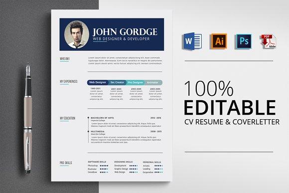 Clean CV Resume Word