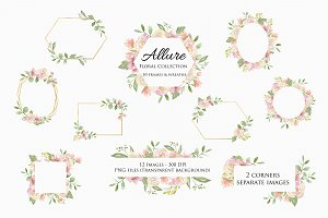 Frames & Wreaths Clipart -Allure Set