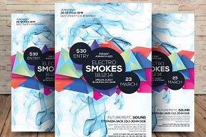 Electro Smoke Party Flyer
