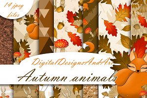 Autumn animals paper